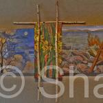 """Moon over Daffodils"""