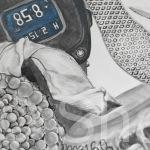 Synthetic Texture, charcoal